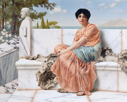 In The Days Of Sappho, 1904, de J.W. Godward
